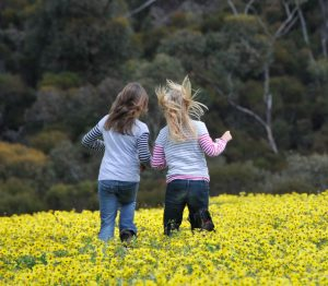 Image of children in spring on Seasonal Kangaroo Island from Open All Year portal