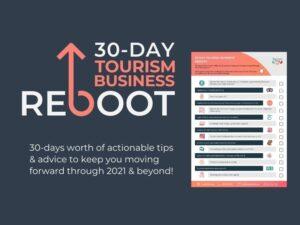 reboot your tourism business, reboot checklist, 30 day challenge