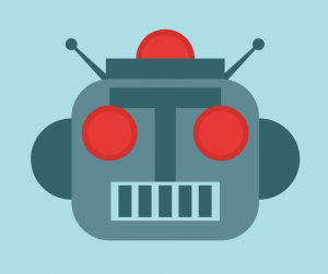 Graphic of robot's face