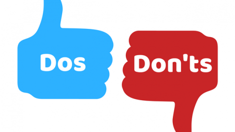 Thumbs up and thumbs down 'dos and don't' image