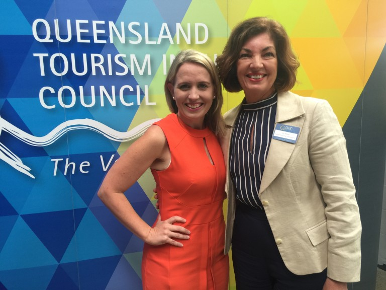Minister Kate Jones and Liz Ward at Innovation in Tourism Awards