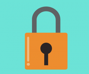 Graphic of padlock