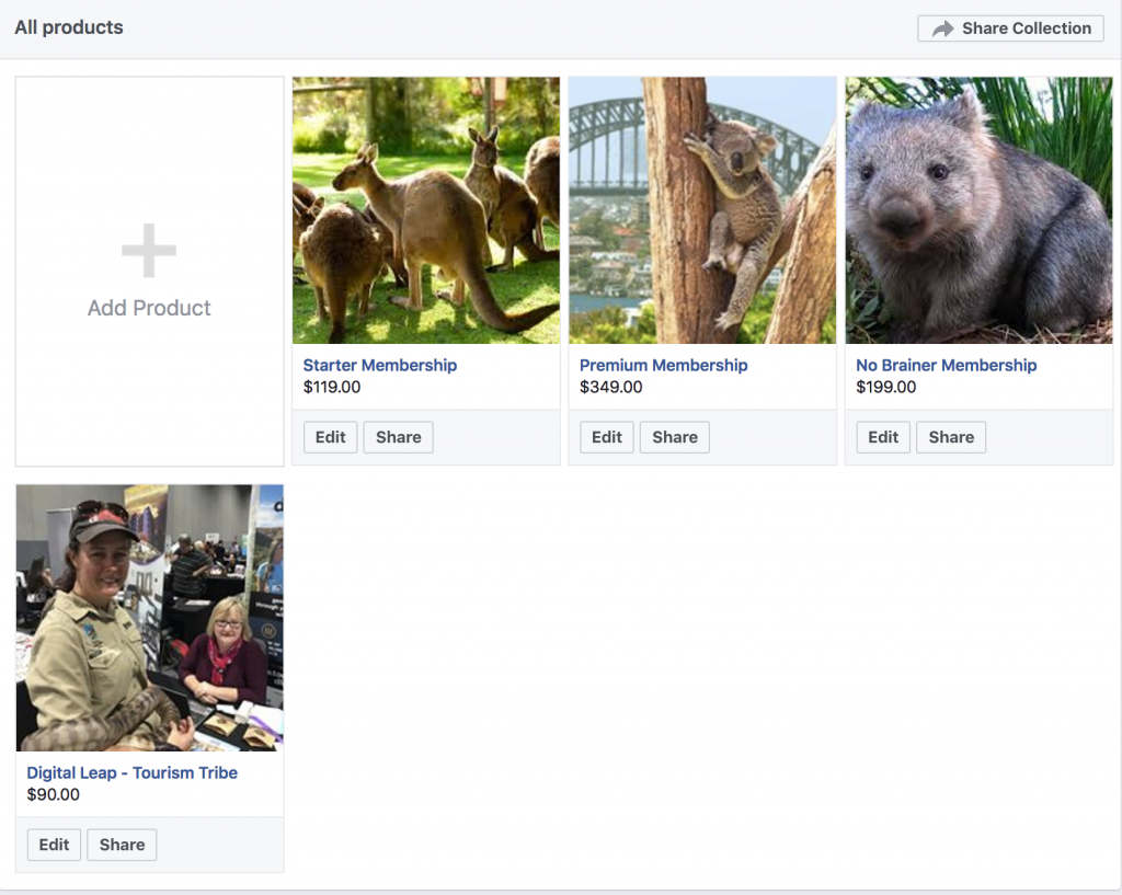 Tourism Tribe - Facebook - Add product