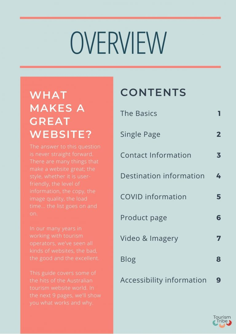 Website Top Hits eBook Contents Page