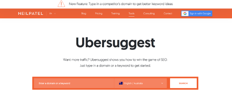 Using Ubersuggest