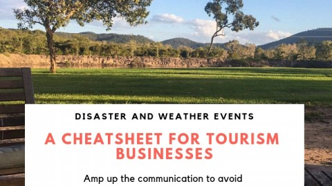 What do to when a disaster or weather crisis caused negative perception of your tourism destination?