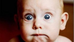 Scared baby - Photo courtesy Google