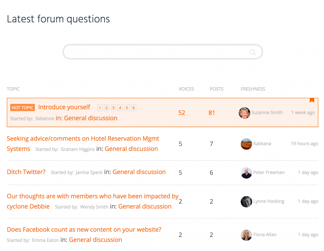 Tourism Tribe - latest forum questions