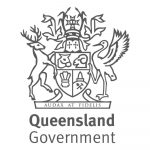 queensland government logo greyscale